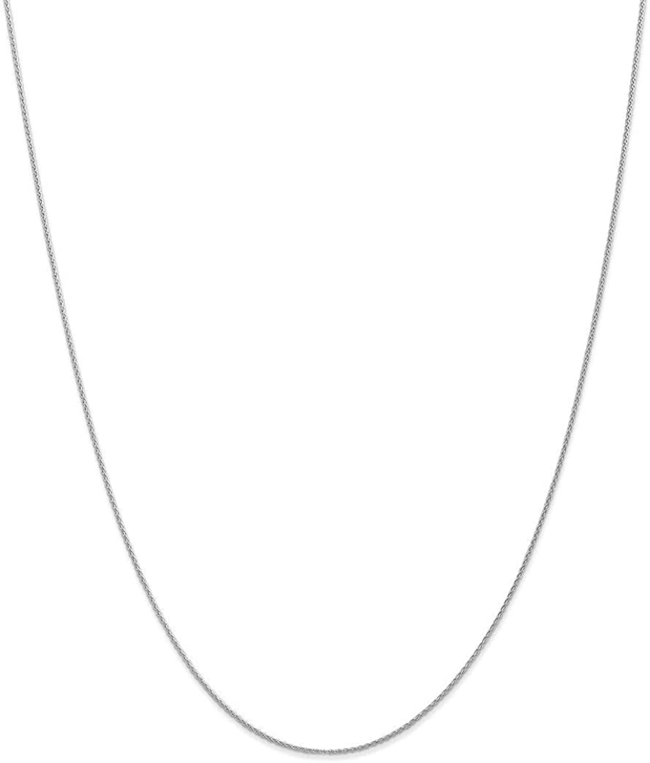 14k White Gold 1mm Parisian Link Wheat Chain Necklace 16 Inch Pendant Charm Spiga Fine Jewelry For Women Gifts For Her