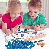 Jeu de lettres assorti pour tout-petits, jeux d'orthographe pour enfants et jeu de lecture, jouets d'apprentissage éducatifs préscolaires de la maternelle, âge 2 3 4 5 6 7 8 ans filles garçons