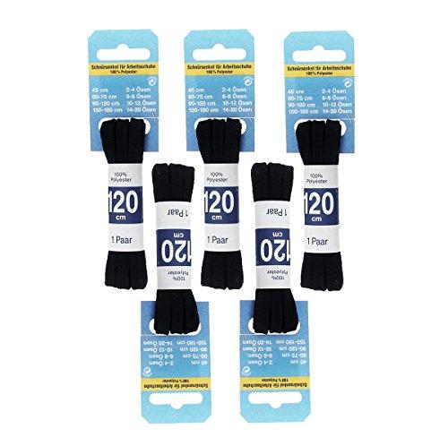 Langlauf Schuhbedarf Sparpaket Profi Schnürsenkel für Arbeitsschuhe 120cm flach Schnürriemen Schnürbänder (120cm)
