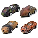 4PCS Pull Back Animal Cars, Simulación Animal Pull Back Car, Mini Animal Racing Cars Vehicles Set Girls Kids Gift Toy (B)