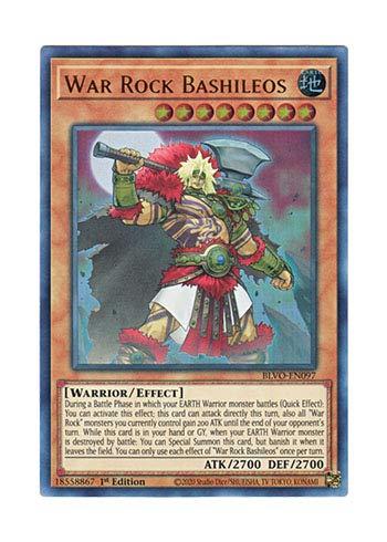 遊戯王 英語版 BLVO-EN097 War Rock Bashileos (ウルトラレア) 1st Edition