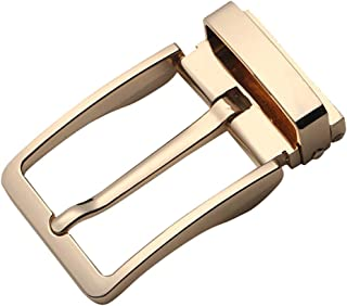 D DOLITY Reversible Single Prong Alloy Rectangular Belt Buckle Replacement for Casual Business Use