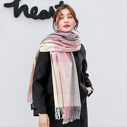 Vrouwen sjaal herfst en winter kleurafstemming wol kwast sjaal mode dikke warme sjaal accessoires