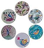 BABEL ARTESANIA Posavasos (Set de 6) - Regalos originales decorativos para café, cocina, uno drink, taza, vino, tazas, vasos, cristal- juego de mesas, base corcho para mesa de madera (Amazona)