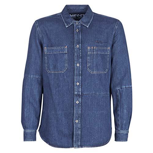 Diesel D FRED Hemden Herren Blau - XXL - Langärmelige Hemden