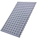 I FRMMY Non Slip Bath Shower Floor Mat with Drain Hole- Anti Slip Bathroom Stall Mat-Gray