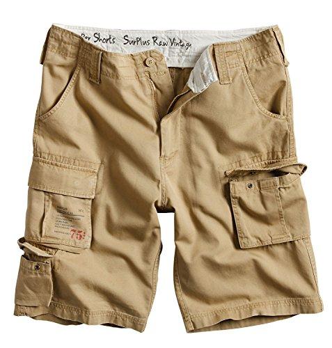Surplus Raw Vintage Herren Cargo Trooper Shorts, Beige, 4XL