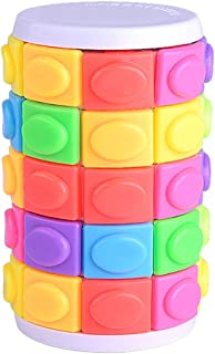 Portonss Colorful Magic Tower Puzzle Rotate Slide Puzzle Toy for Kid Adult