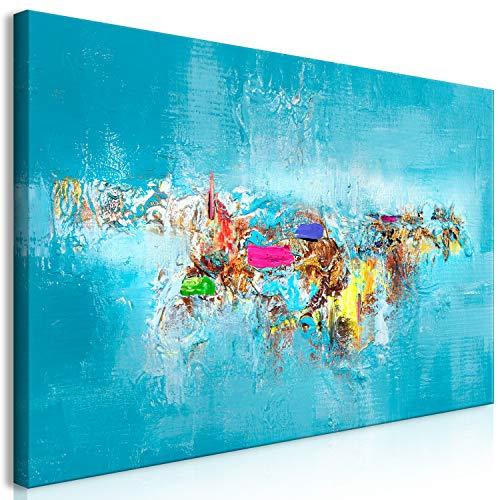 murando Cuadro en Lienzo Abstracto 140x70 cm 1 Parte Impresión en Material Tejido no Tejido Impresión Artística Imagen Gráfica Decoracion de Pared a-A-0414-b-a