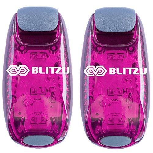 BLITZU LED Safety Lights Gear for Boat, Kayak, Bike, Dog Collar, Stroller, Walking, Runners and...