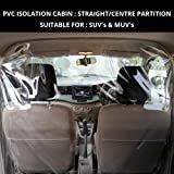 PAMTEK CORONA PROTECTION DETACHABLE PLASTIC CABIN for Drivers and Passengers for SUV's