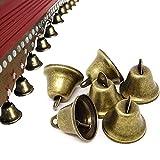 Vintage Bronce Campanas Mini Campana Metal Vintage Bell Bronce Campanillas de Metal Bronce Artesanía Bronce de la Vendimia Vintage Bells para Accesorios de Decoración de Bricolaje 30 Piezas