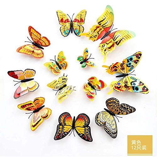 Best Quality - Wall Stickers - 3d color wall stickers multi- piece package modern animal sw96 butterfly living room wedding home decor on the wall 12-piece set - by LHOUSSAINE - 1 PCs