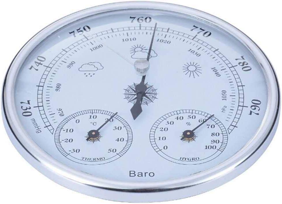 KenKER Termómetro doméstico montado en la Pared Higrómetro Medidor de presión Instrumento de Tiempo atmosférico