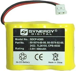 Synergy Digital Cordless Phones Battery, Compatible with Vtech ia5878 Cordless Phone, Ni-CD, 3.6 Volt, 400 mAh - Ultra Hi-Capacity
