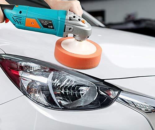 JINGBO auto polijstmachine draagbaar - polijsten + waxen + krassen repareren 7 variabele snelheden 1280 W - voor het polijsten van metaal, kunststof, tegels, autolak, 1