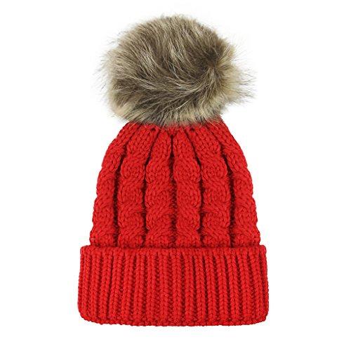 RUIXIA Bonnet Bébé Enfant Fille Garçon 0-2 Ans Chapeau Hiver Chaudes Coif Casquettes Réchauffez pour Enfant Unisexe Cadeau Noël