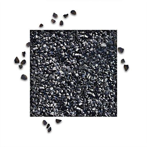 25 kg Marmorsplitt Ebano Schwarz Körnung 5/8 mm Zierkies Ziersplitt Deko Marmor Dekoration Splitt NEU