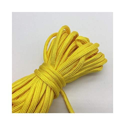 QHKS Rope 10yds Paracord 550 Cuerda del paracaídas de Cuerda Cuerda Strand 7 Escalada Acampar Equipo de Supervivencia #Gold Amarillo (Color : 1)