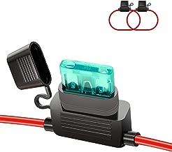 HUIQIAODS ATC/ATO 30A In-Line Fuse Holder 12 Gauge Wiring Harness 12V Standard Plug Socket Pack of 2
