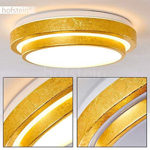 LED Deckenleuchte Sora, runde Deckenlampe aus Metall in moderner Gold-Optik, 18 Watt, 1380 Lumen, Lichtfarbe 3000 Kelvin (warmweiß), IP 44, auch für das Badezimmer geeignet