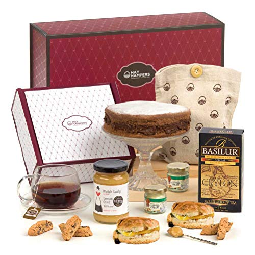 Hay Hampers- Alternative Chocolate Cake Afternoon Cream Tea - No Alcohol - Hamper Gift for the Family
