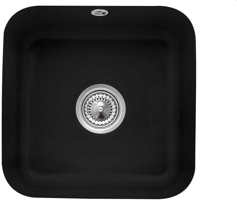 Villeroy & Boch Cisterna 50 Ebony Keramik-Spüle Schwarz Küchenspüle Unterbau