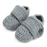 1 par de bebés lindos niños pequeños bebé ganchillo suave tejer...