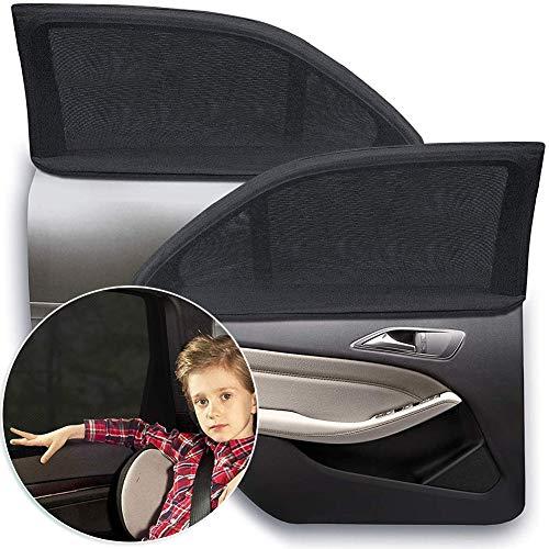 Passeggino con protezione solare e protezione UV, tapparelle per auto, vetri posteriori avvolgibili per bambini, neonati, adulti e animali domestici, 2 per confezione