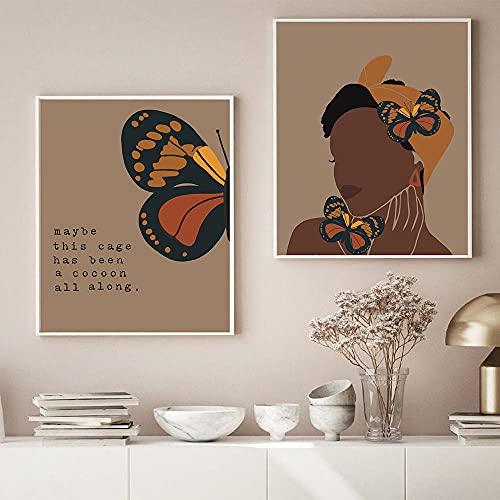 JRLDMD Póster de Retrato de niña, Cuadro en Lienzo de Color Abstracto, Arte de Graffiti nórdico, Cuadro de impresión Mural, Sala de Estar, decoración del hogar, imágenes