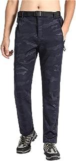neveraway Men Trousers Fleece Outdoor Thicken Camo Cargo Combat Work Pants