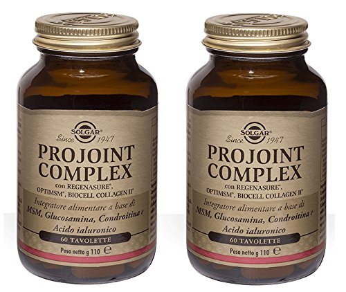 SOLGAR-PROJOINT COMPLEX 2 CONFEZIONI DA 60 TAVOLETTE-cartilagine e benessere articolare - [KIT CON SAPONETTA NATURALE QUIZEN IN OMAGGIO]