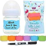 Baby Bottle Labels for Daycare, 6 Pcs (Multi-Color)