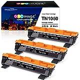 GPC Image TN1050 Cartuccia toner compatibile per Brother TN-1050 TN 1050 per Brother DCP-1510 DCP-1512 DCP-1612W DCP-1610W HL-1210W HL-1110 HL-1112 MFC-1810 MFC-1910W HL-1212W(3 Nero, 1000 Pagina)