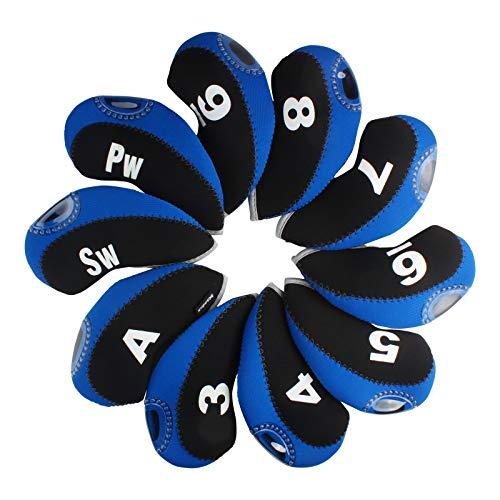 Andux 10pcs/Set de Hierro de Golf Cabeza Fundas con número Etiqueta Unidades 10