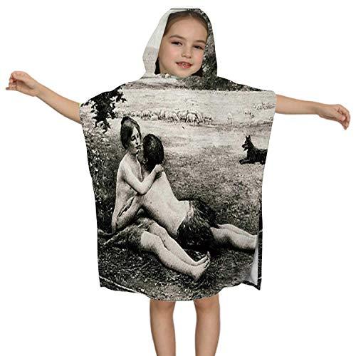 IUBBKI Antique - von Jeunesse von Collin Issues, Kids Hooded Beach Badetuch - Swim Pool Coverup Poncho Cape Mehrzweck und Reproduktion