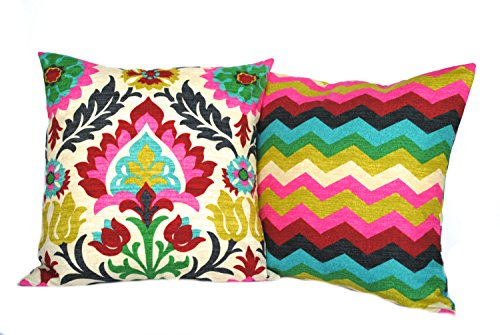 Best Prices! Two Covers, One Waverly Santa Maria Desert Flower and One Waverly Zig Zag, cushion, dec...