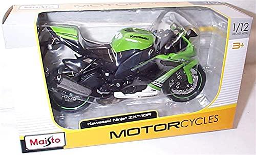 Kawasaki Ninja ZX-10 R 2010 Green 1:12 Maisto Moto modelo modelo die cast