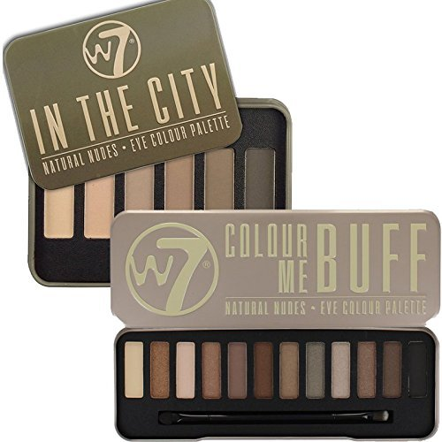 W7 Colour Me Buff Natural Nudes & In The City Eyeshadow Palette Set by W7