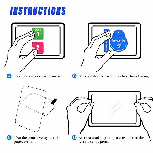 Nikon D850 D810 D750 D500 D780 Touch Tiltable Screen Protector Tempered Glass 0.33mm Thickness 9H Hardness for Nikon D780 D850 D810 D750 D500 DSLR Camera (2 Pack)