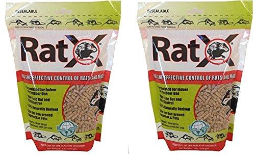 EcoClear RatX Pellets, 2 Pack of 1 Pound Each, Pet Safe Rodent Extermination