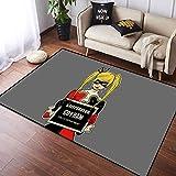 Coobal Harley Quinn - Alfombra grande para suelo de yoga, sala de estar, para niños, sala de juegos, dormitorio, 3 x 5 pies (90 x 150 cm)