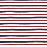 Fabulous Fabrics French Terry Streifen Nautik – blau/rot