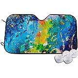 Neoqwez Parasole del Parabrezza, Parasole della Finestra Anteriore dell'automobile di Arte della Pittura a Olio della Pittura acrilica per Il Veicolo del monovolume di SUV, 70x130cm