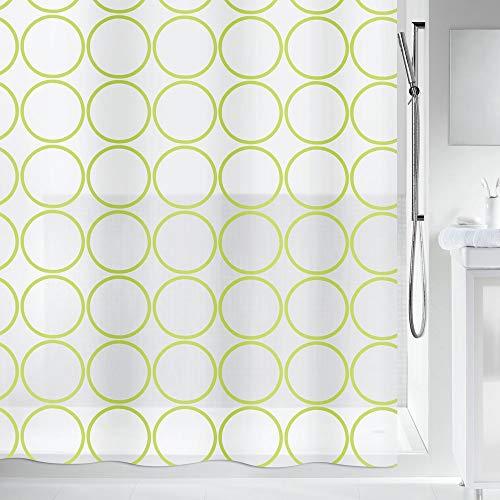 cortinas baño verde