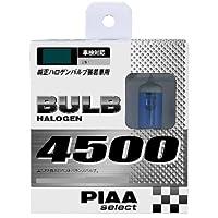 PIAA ヘッドランプ/フォグランプ用 ハロゲンバルブ H3 4500K PIAAセレクト 車検対応 2個入 12V 55W HS21