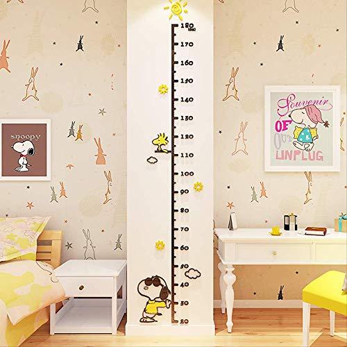 Kinderen Hoogte Muurstickers Liniaal Baby Cartoon Kleuterschool Room Stickers Decoratieve Schilderij Acryl 3D Driedimensionale Hoogte Stickers