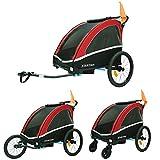 TIGGO World Aluminio Remolque de Bici para niños Remolque de Bici Remolque de bicileta 702-D01 Rojo