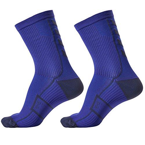 Hummel Socken Tech Indoor Sport Sock Low 2 Paar (Palace Blue/Microchip (8644), 36-40 (Size 10))