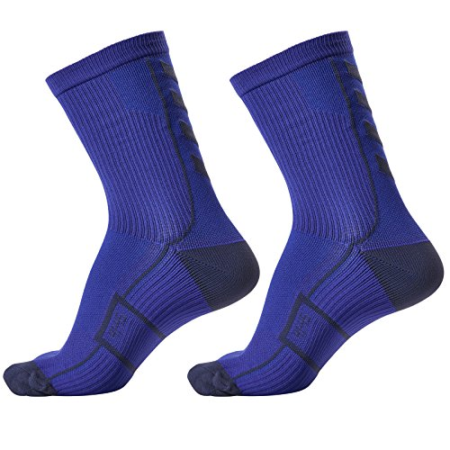 hummel Socken Tech Indoor Sport Sock Low 2 Paar (Palace Blue/Microchip (8644), 36-40 (Size 10))